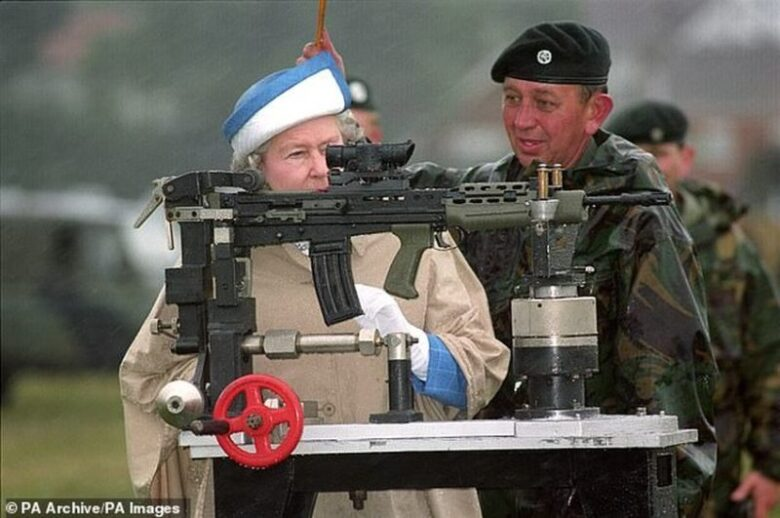 Queen Elizabeth Practices Shooting Nazis At The Buckingham Palace1